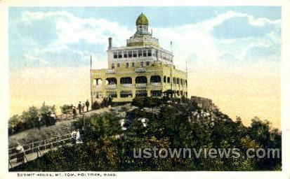 Summit House, Mt Tom - Holyoke, Massachusetts MA Postcard