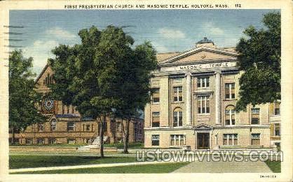 First Presbyterian Church  - Holyoke, Massachusetts MA Postcard