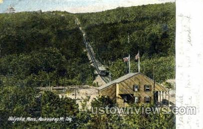 Railroad, Mt Tom - Holyoke, Massachusetts MA Postcard