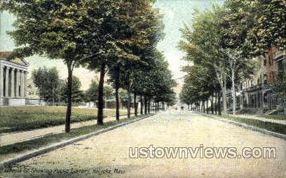 Maple St. - Holyoke, Massachusetts MA Postcard