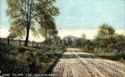 Road, Mt Tom - Holyoke, Massachusetts MA Postcard