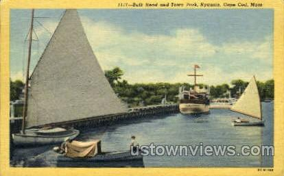 Bulk Head & Town Park - Hyannis, Massachusetts MA Postcard