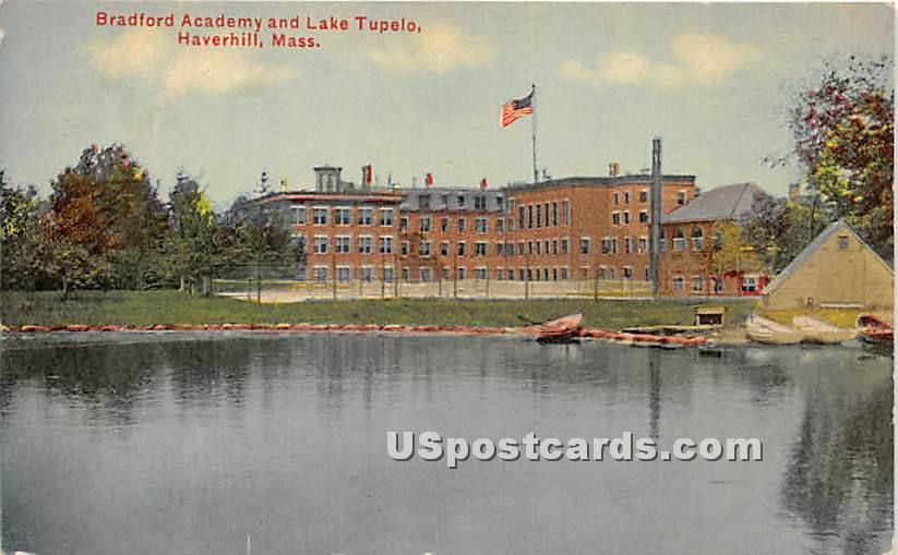 Bradford Academy & Lake Tupeio - Haverhill, Massachusetts MA Postcard