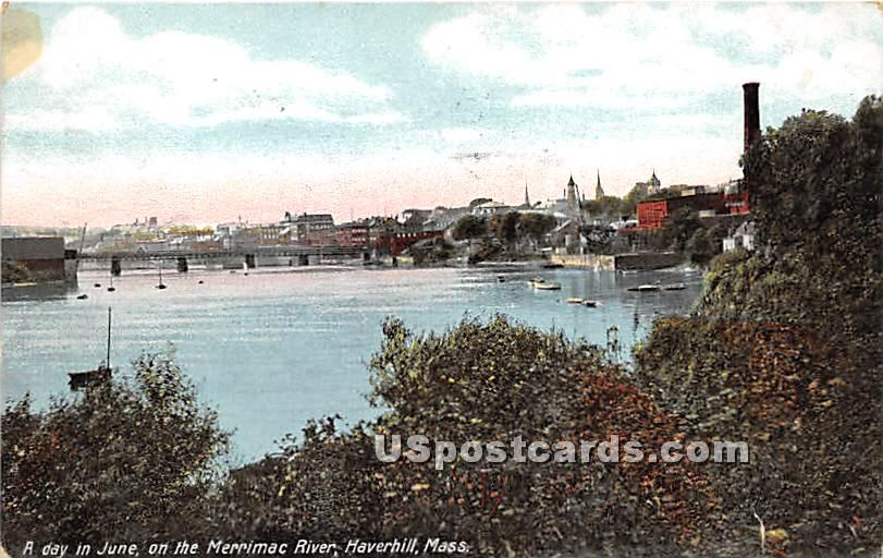 A day in June on the Merrimac River - Haverhill, Massachusetts MA Postcard