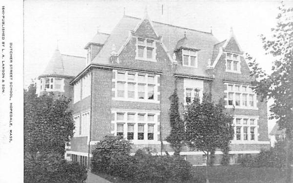 Dutcher Street School Hopedale, Massachusetts Postcard