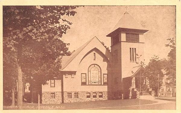 Union Church Hopedale, Massachusetts Postcard