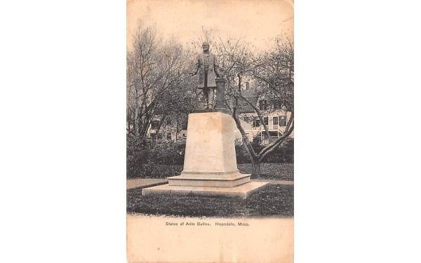 Statue of Adin Ballou Hopedale, Massachusetts Postcard