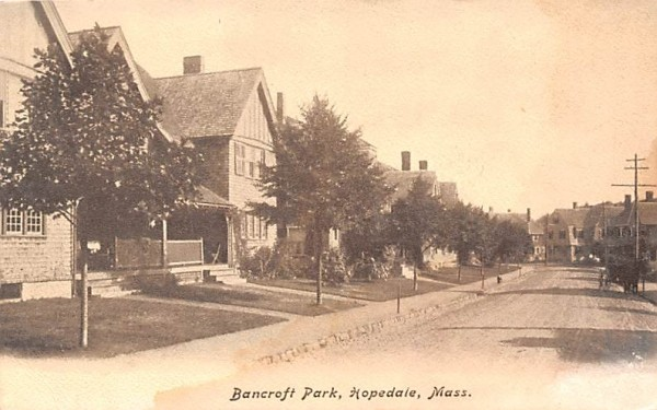 Bancroft Park Hopedale, Massachusetts Postcard