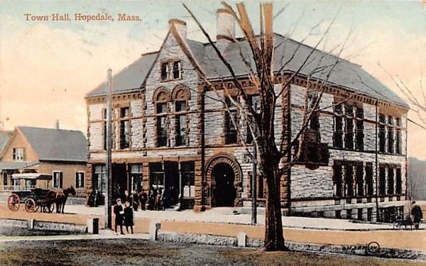Town Hall Hopedale, Massachusetts Postcard
