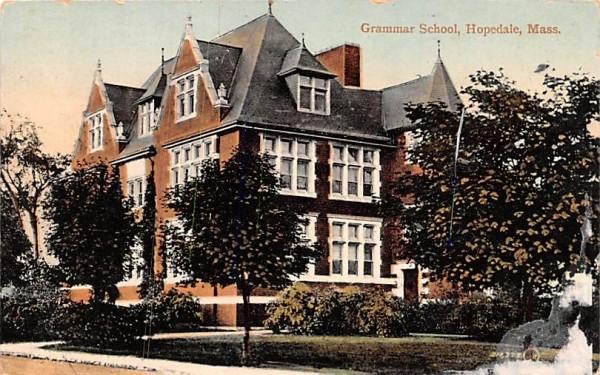 Grammar School Hopedale, Massachusetts Postcard