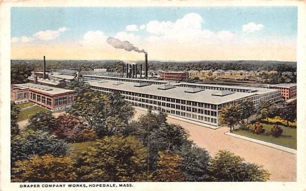 Draper Company Works Hopedale, Massachusetts Postcard