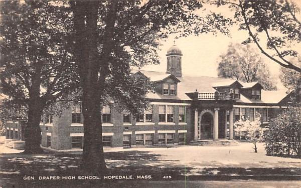 Gen. Draper High School Hopedale, Massachusetts Postcard