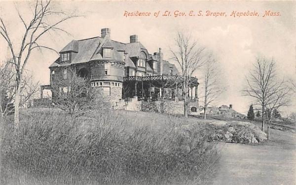 Residence of Lt. Gov. E.S. Draper Hopedale, Massachusetts Postcard