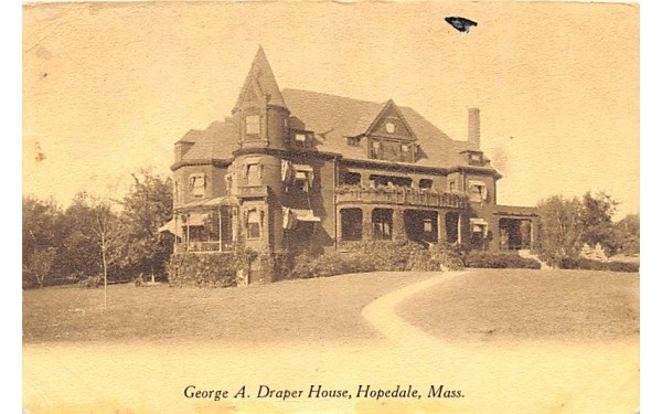 George A. Draper House Hopedale, Massachusetts Postcard