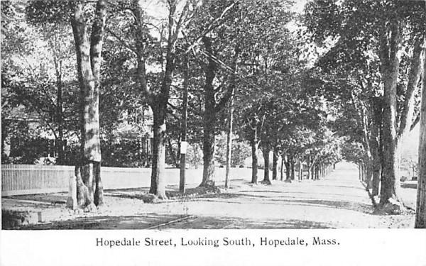 Hopedale Street Massachusetts Postcard