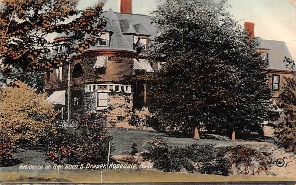 Residence of Gov. Eben S. Draper Hopedale, Massachusetts Postcard