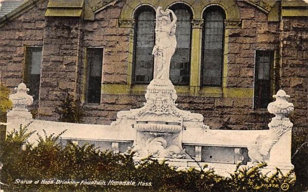 Statue of Hope Drinking Fountain Hopedale, Massachusetts Postcard
