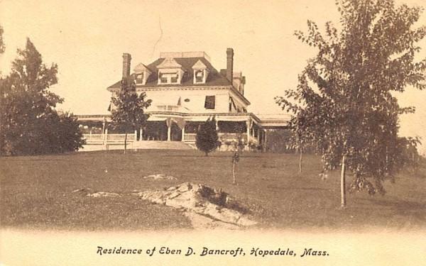 Residence of Eben D. Bancroft Hopedale, Massachusetts Postcard