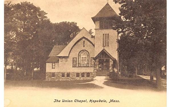 The Union Chapel Hopedale, Massachusetts Postcard