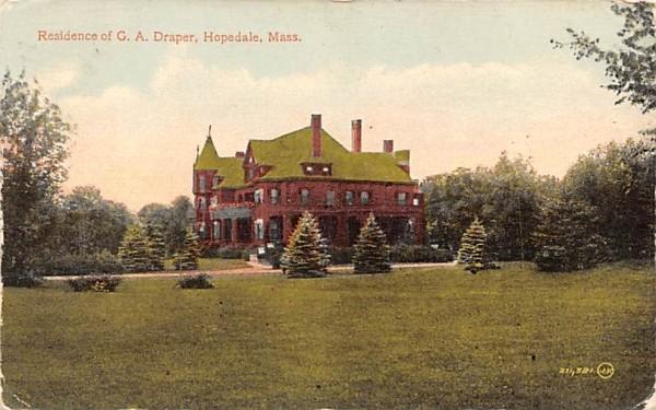 Residence of G.A. Draper Hopedale, Massachusetts Postcard
