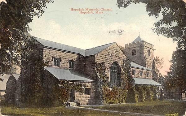 Hopedale Memorial Church Massachusetts Postcard