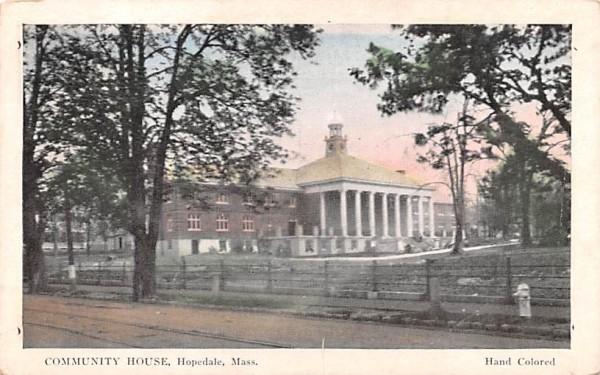 Community House Hopedale, Massachusetts Postcard