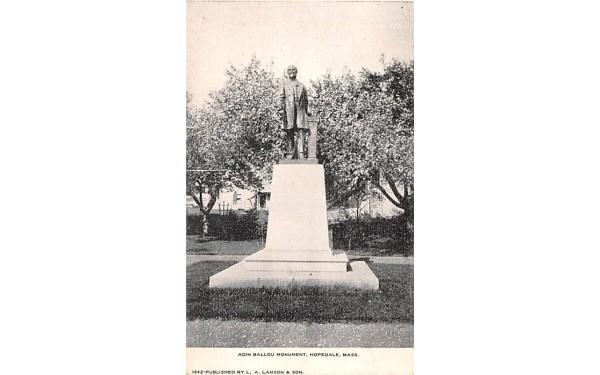 Adin Ballou Memorial  Hopedale, Massachusetts Postcard