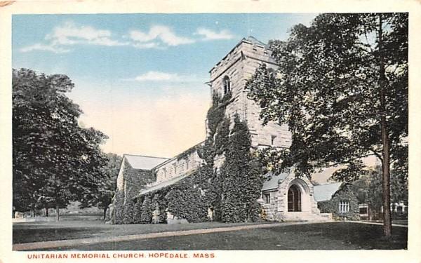 Unitarian Memorial Church Hopedale, Massachusetts Postcard