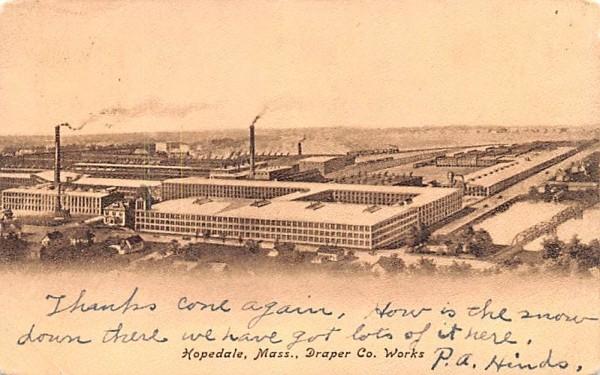 Draper Co. Works Hopedale, Massachusetts Postcard
