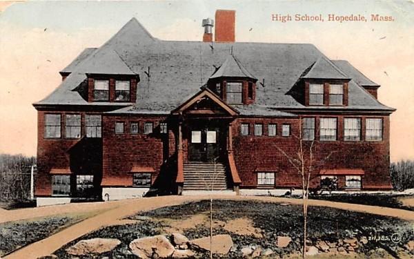 High School Hopedale, Massachusetts Postcard