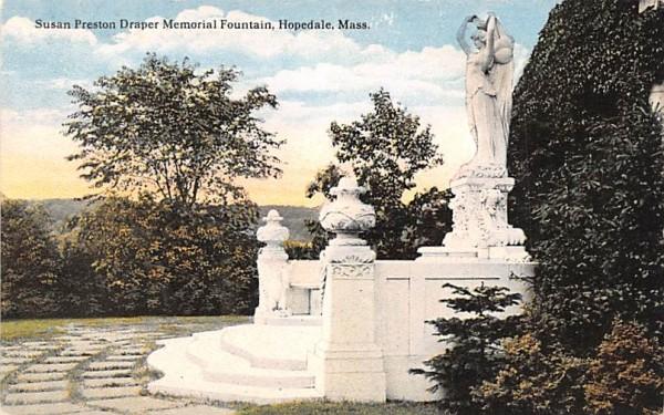 Susan Preston Draper Memorial Fountain Hopedale, Massachusetts Postcard