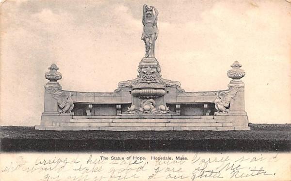 The Statue of Hope Hopedale, Massachusetts Postcard