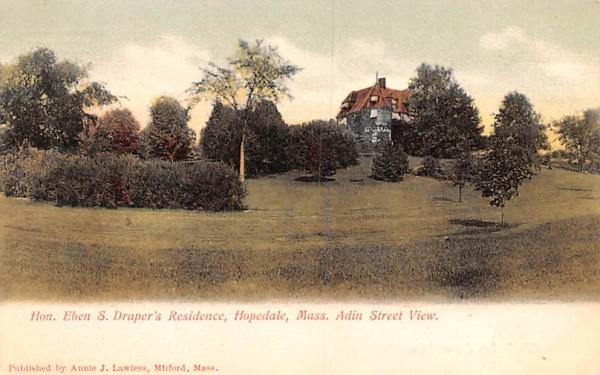 Hon. Eben S. Draper's Residence Hopedale, Massachusetts Postcard