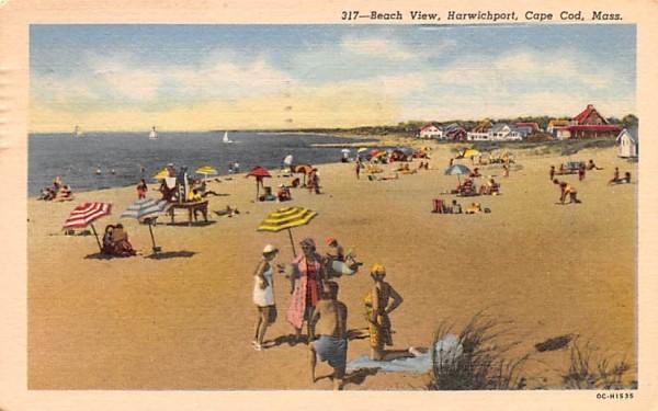 Beach View  Harwichport, Massachusetts Postcard