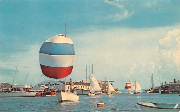 Balloon Jibs on Yachts Harwichport, Massachusetts Postcard