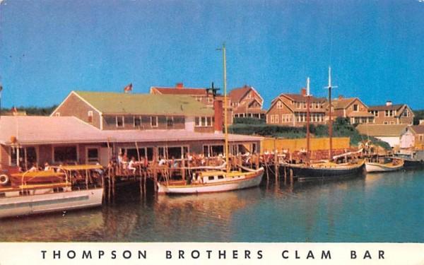 Thompson Brothers Clam Bar Harwichport, Massachusetts Postcard