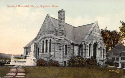 Bancroft Memorial Library Hopedale, Massachusetts Postcard