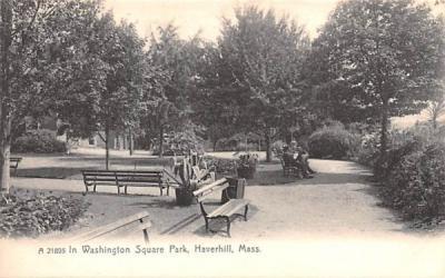 In Washington Square Park Haverhill, Massachusetts Postcard