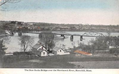 The New Rocks Bridge Haverhill, Massachusetts Postcard