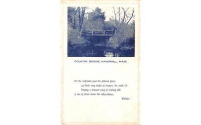 Country Bridge Haverhill, Massachusetts Postcard