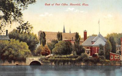 Back of Post Office Haverhill, Massachusetts Postcard
