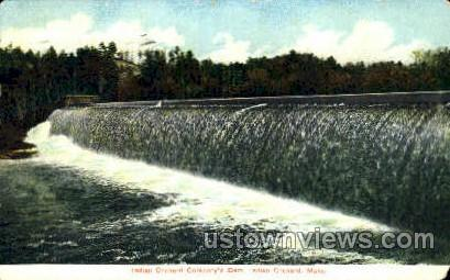 Indian Orchard Company's Dam - Massachusetts MA Postcard