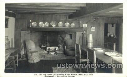 Olde Burnham House - Ipswich, Massachusetts MA Postcard