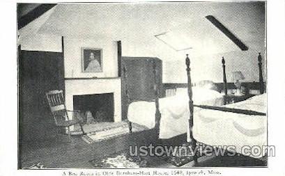 Olde Burnham-Hart House - Ipswich, Massachusetts MA Postcard