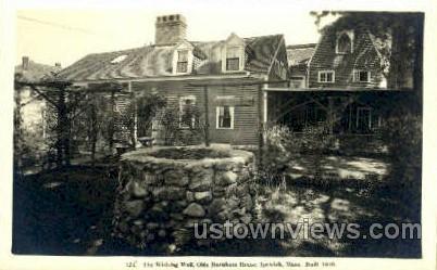 The Wishing Well - Ipswich, Massachusetts MA Postcard