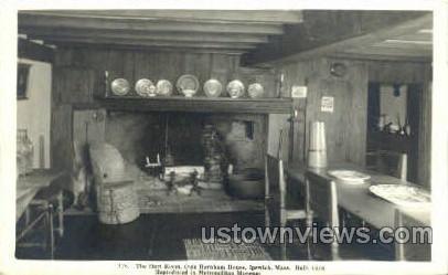 Hart Room, Olde Burnham House - Ipswich, Massachusetts MA Postcard