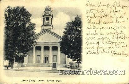 South Congregational Church - Ipswich, Massachusetts MA Postcard