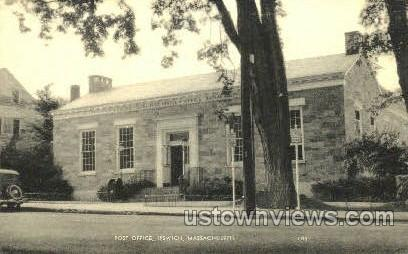 Post Office - Ipswich, Massachusetts MA Postcard