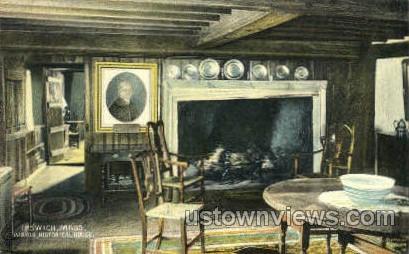 Parlor, Historical House - Ipswich, Massachusetts MA Postcard