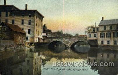 Choate Bridge, 1764 - Ipswich, Massachusetts MA Postcard